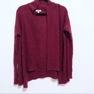 Meds | wine colored open knitted cardigan